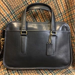 Coach NYC Black Flight Bag